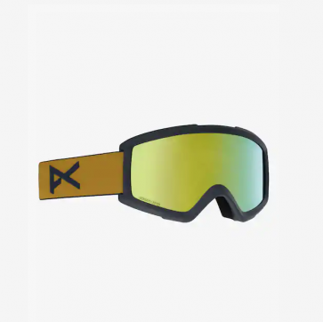 Anon Helix 2 MustardSonar Bronze Snowboard Goggle w Spare Lens Amber