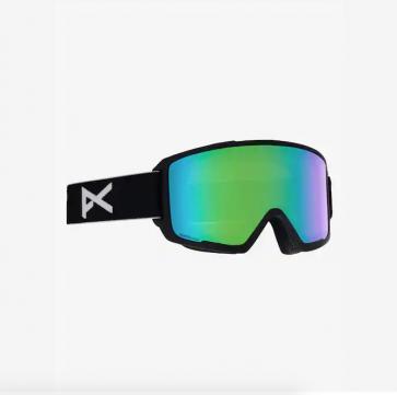 Anon M3 BlackSonar Green Snowboard Goggle w Spare Lens Sonar Infared