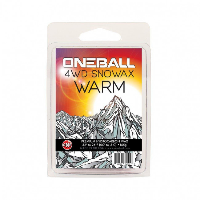 oneball 4wd snowboard wax warm 65g