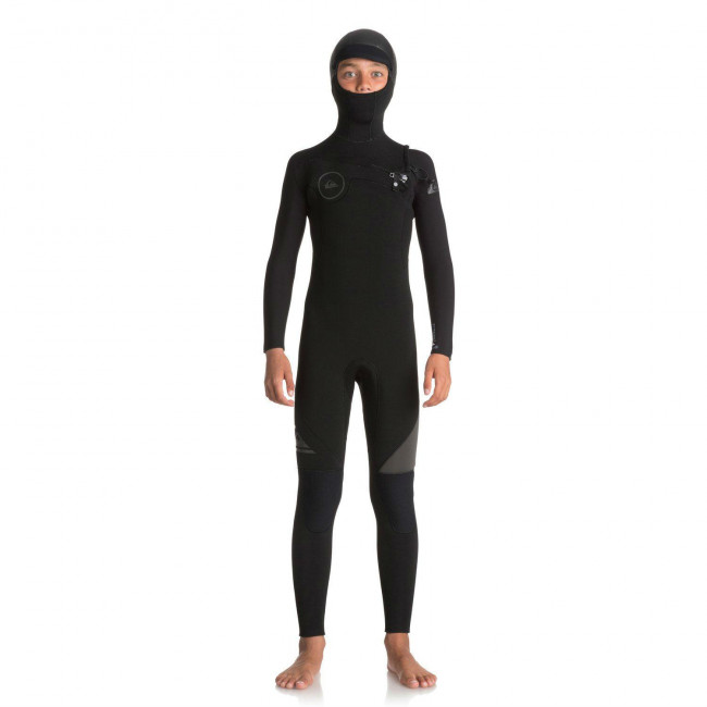 ac953679a1 Quiksilver Boys Youth 543 Syncro Hooded Wetsuit