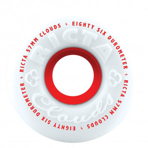Ricta Clouds Skateboard Wheels 57mm 86a Red