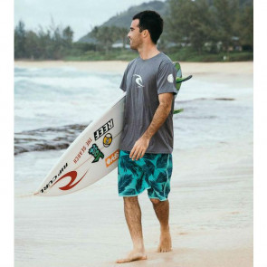 Rip Curl Icon Short Sleeve Loose Fit Rash Guard